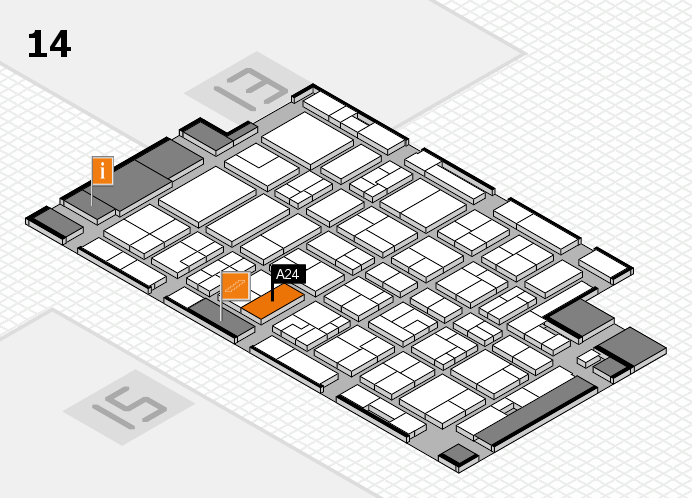 MEDICA 2016 hall map (Hall 14): stand A24