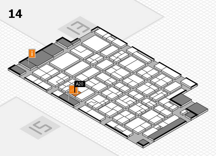 MEDICA 2016 hall map (Hall 14): stand A20