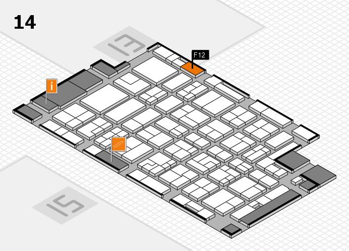 MEDICA 2016 hall map (Hall 14): stand F12