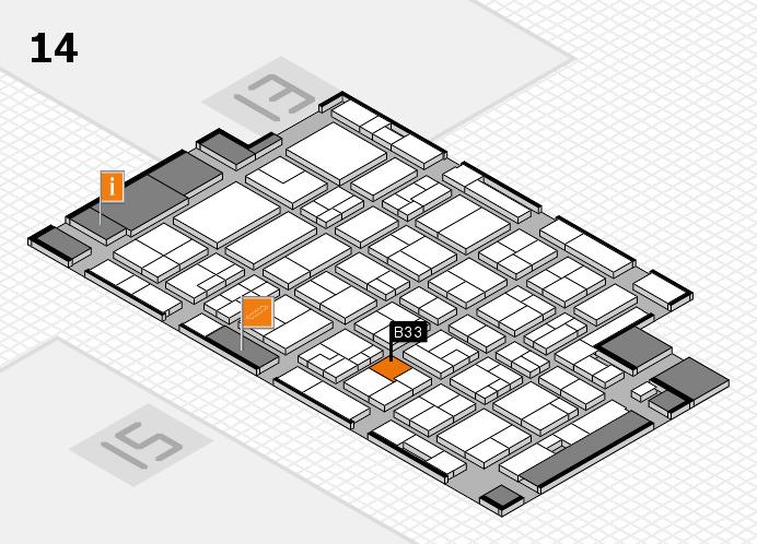 MEDICA 2016 hall map (Hall 14): stand B33