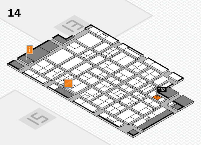 MEDICA 2016 hall map (Hall 14): stand D52