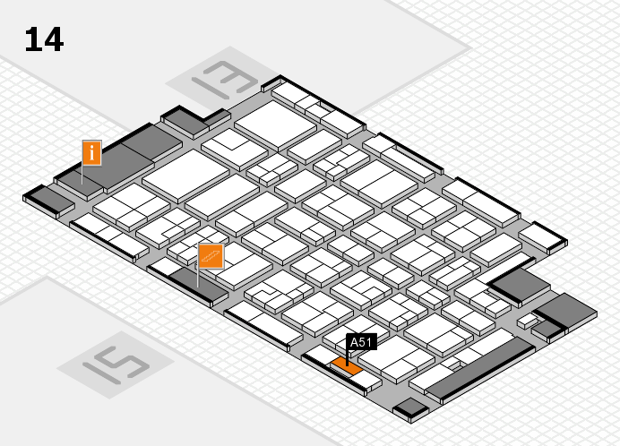 MEDICA 2016 hall map (Hall 14): stand A51