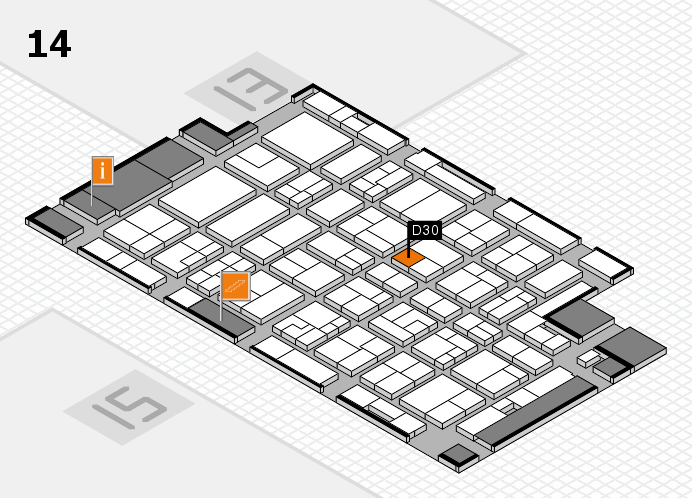 MEDICA 2016 hall map (Hall 14): stand D30