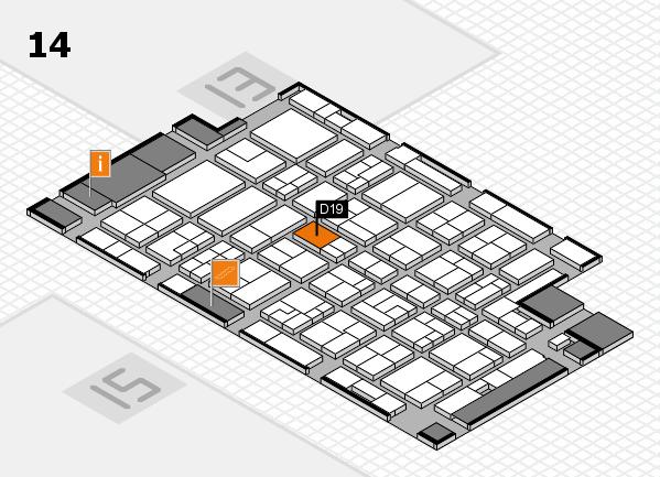 MEDICA 2016 Hallenplan (Halle 14): Stand D19