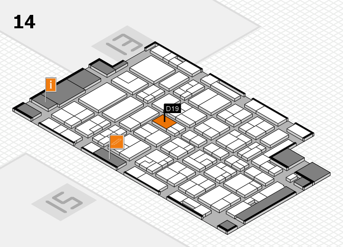 MEDICA 2016 hall map (Hall 14): stand D19