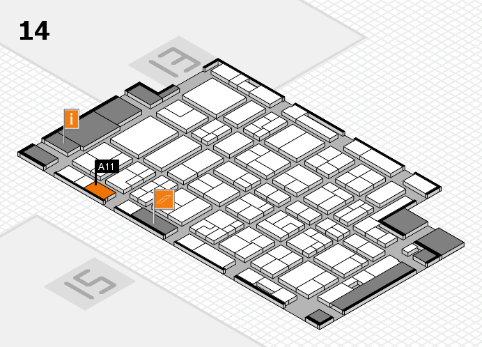MEDICA 2016 hall map (Hall 14): stand A11