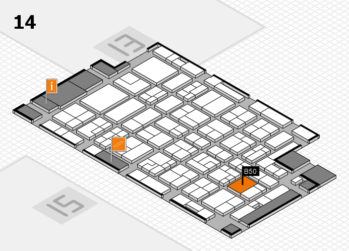 MEDICA 2016 hall map (Hall 14): stand B50