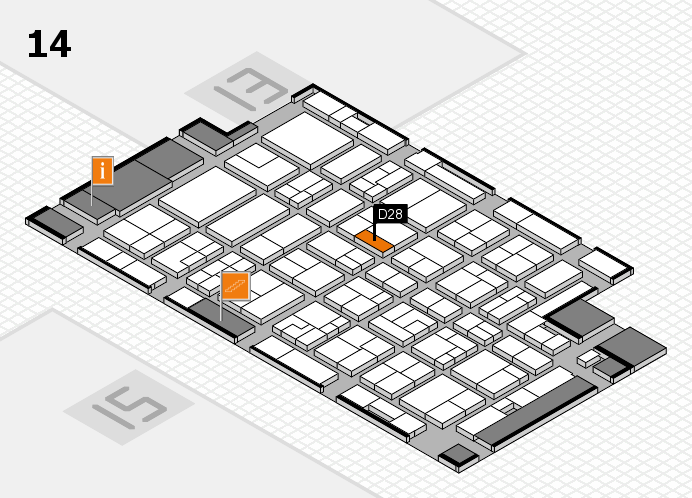 MEDICA 2016 hall map (Hall 14): stand D28