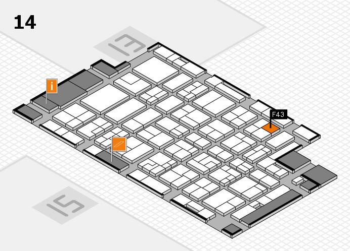 MEDICA 2016 hall map (Hall 14): stand F43