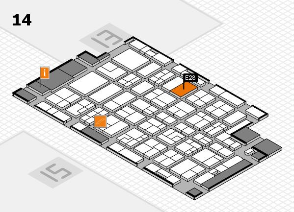 MEDICA 2016 hall map (Hall 14): stand E28