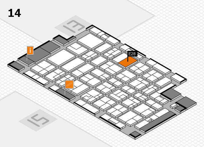 MEDICA 2016 Hallenplan (Halle 14): Stand E28