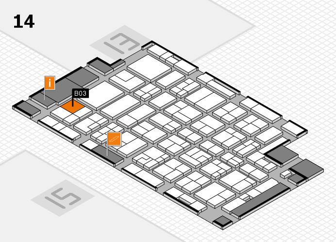 MEDICA 2016 hall map (Hall 14): stand B03