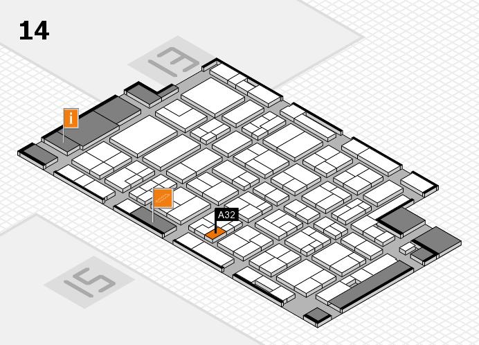MEDICA 2016 hall map (Hall 14): stand A32