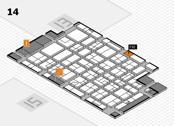 MEDICA 2016 Hallenplan (Halle 14): Stand F30