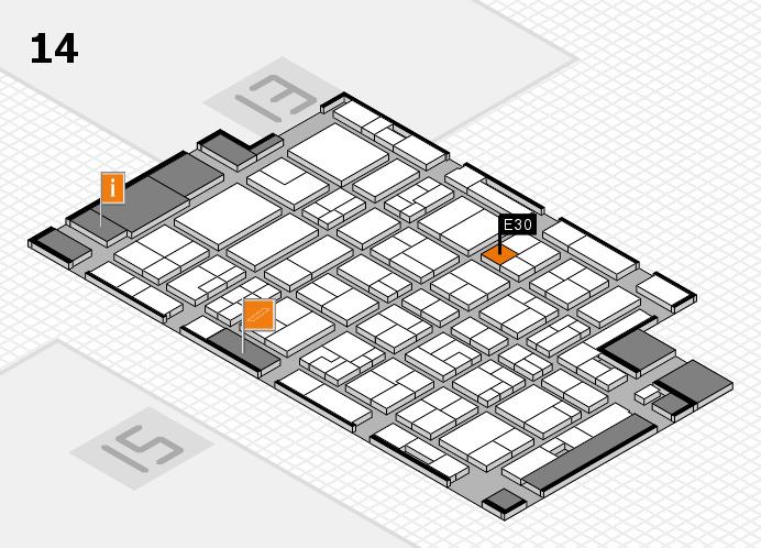 MEDICA 2016 hall map (Hall 14): stand E30