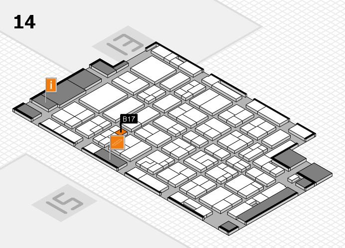 MEDICA 2016 hall map (Hall 14): stand B17