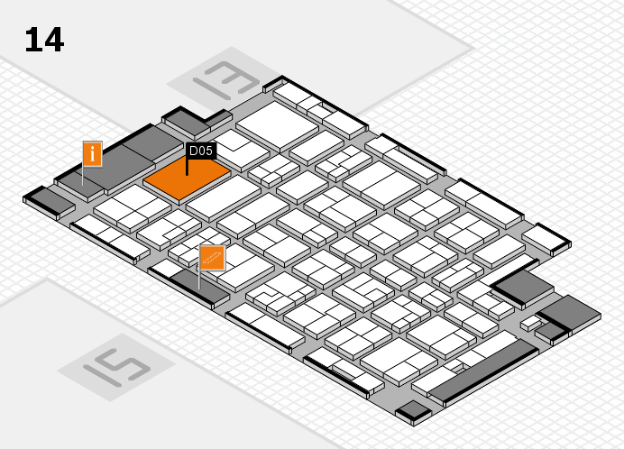 MEDICA 2016 hall map (Hall 14): stand D05