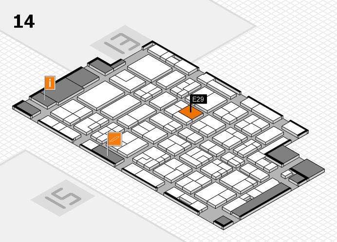 MEDICA 2016 hall map (Hall 14): stand E29
