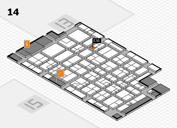MEDICA 2016 hall map (Hall 14): stand E16