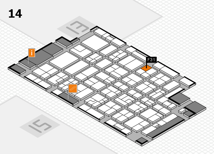 MEDICA 2016 Hallenplan (Halle 14): Stand F31