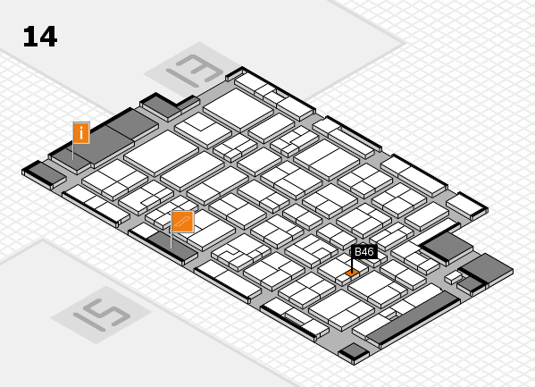 MEDICA 2016 Hallenplan (Halle 14): Stand B46