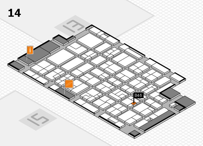 MEDICA 2016 hall map (Hall 14): stand B46