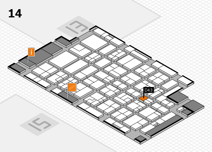 MEDICA 2016 hall map (Hall 14): stand D43