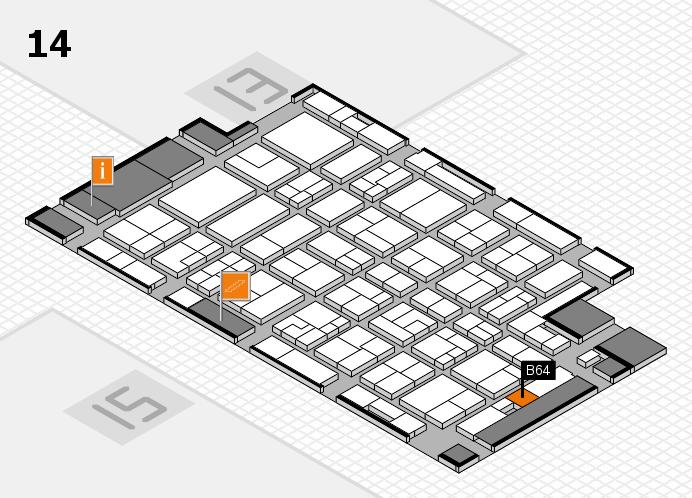 MEDICA 2016 hall map (Hall 14): stand B64