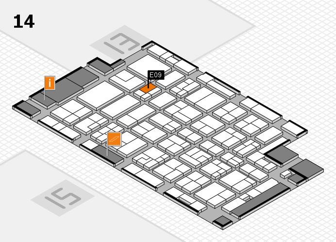 MEDICA 2016 hall map (Hall 14): stand E09