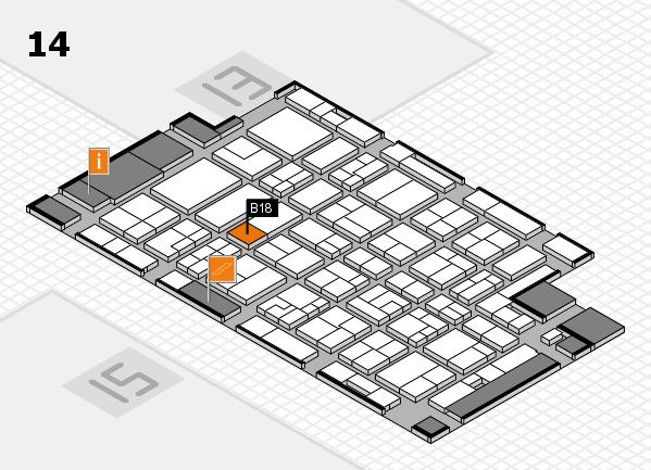 MEDICA 2016 Hallenplan (Halle 14): Stand B18