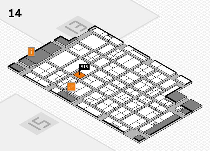 MEDICA 2016 hall map (Hall 14): stand B18