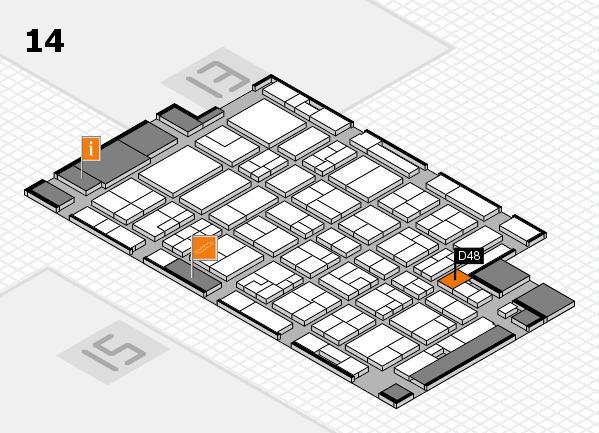 MEDICA 2016 Hallenplan (Halle 14): Stand D48