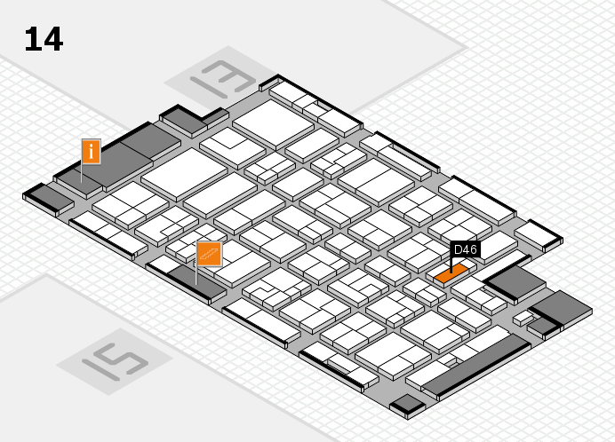 MEDICA 2016 hall map (Hall 14): stand D46