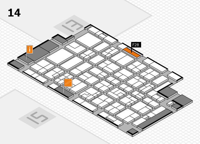 MEDICA 2016 hall map (Hall 14): stand F28