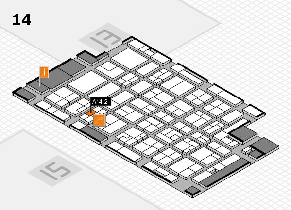 MEDICA 2016 hall map (Hall 14): stand A14-2