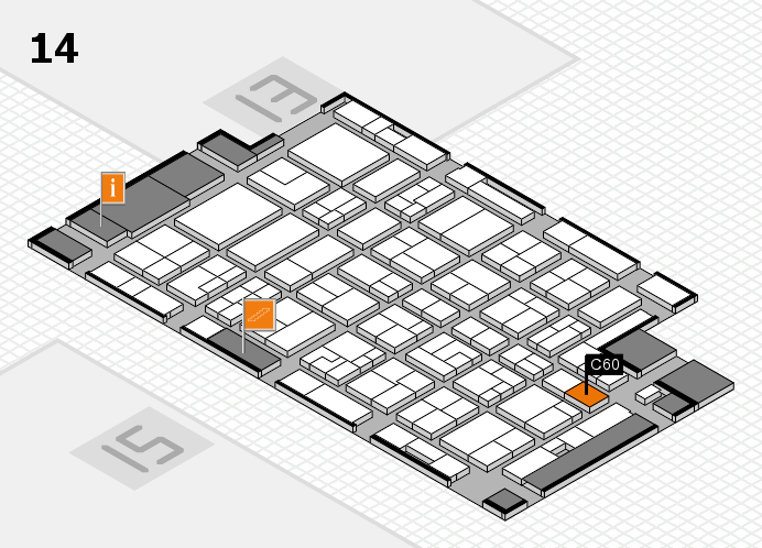MEDICA 2016 hall map (Hall 14): stand C60