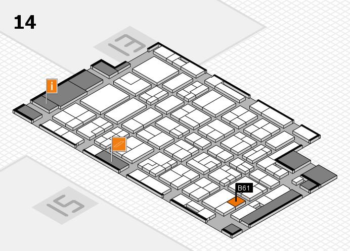 MEDICA 2016 Hallenplan (Halle 14): Stand B61