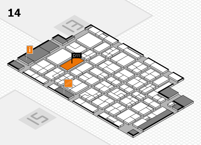 MEDICA 2016 hall map (Hall 14): stand D11