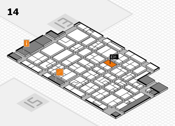 MEDICA 2016 hall map (Hall 14): stand E31