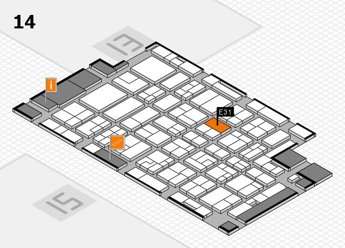 MEDICA 2016 Hallenplan (Halle 14): Stand E31