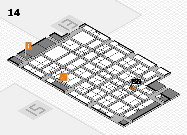 MEDICA 2016 hall map (Hall 14): stand D47