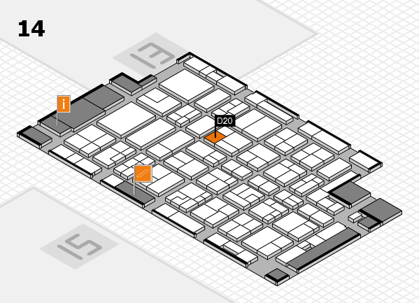 MEDICA 2016 hall map (Hall 14): stand D20
