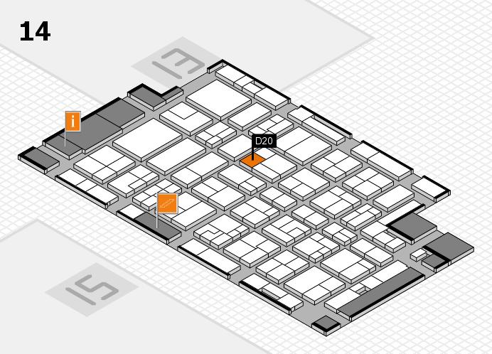 MEDICA 2016 Hallenplan (Halle 14): Stand D20