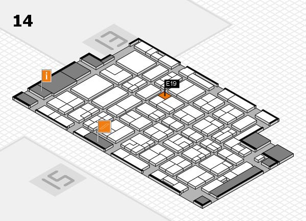 MEDICA 2016 hall map (Hall 14): stand E19