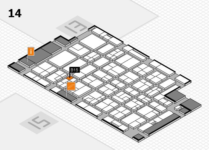 MEDICA 2016 hall map (Hall 14): stand B15