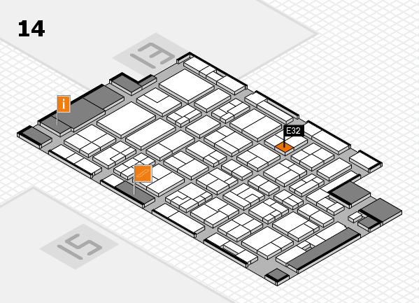 MEDICA 2016 hall map (Hall 14): stand E32