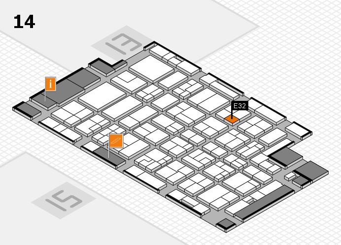 MEDICA 2016 Hallenplan (Halle 14): Stand E32