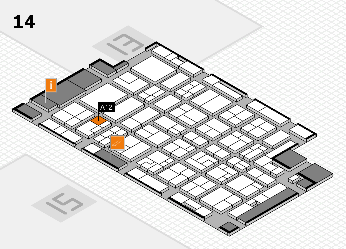 MEDICA 2016 hall map (Hall 14): stand A12
