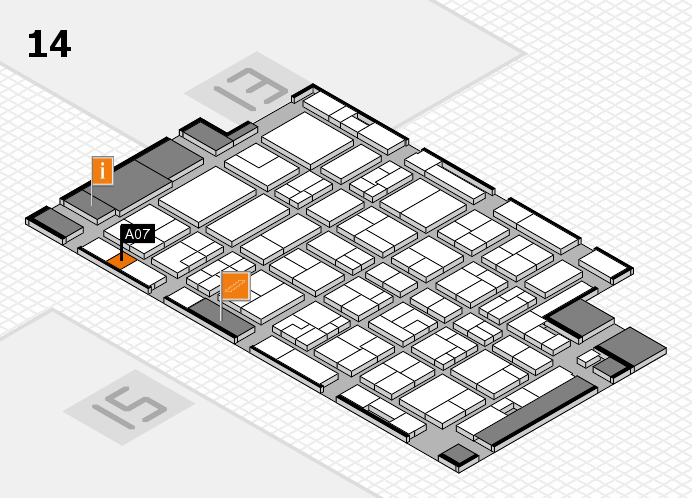 MEDICA 2016 hall map (Hall 14): stand A07