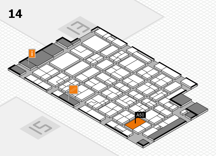 MEDICA 2016 hall map (Hall 14): stand A50